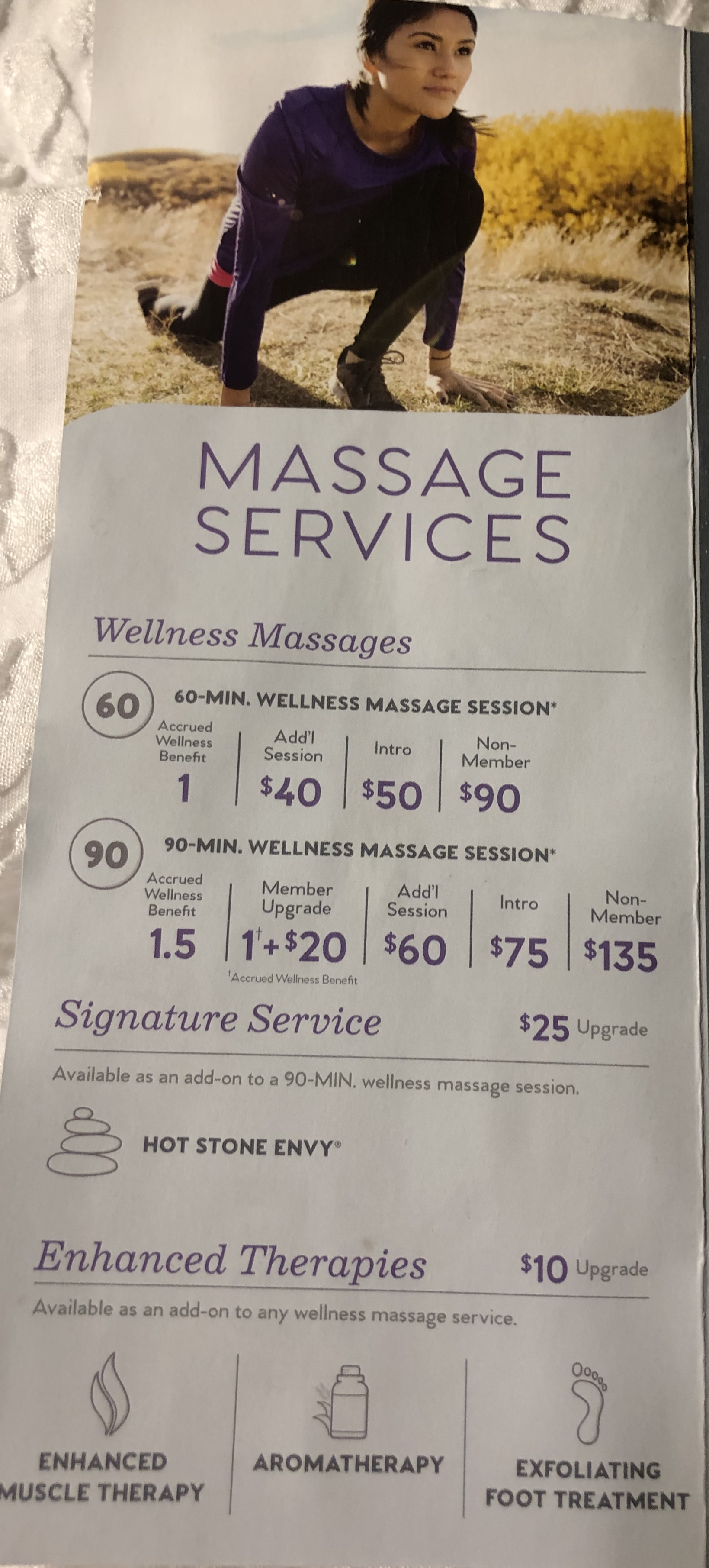 Massage Service and Add On's Available
