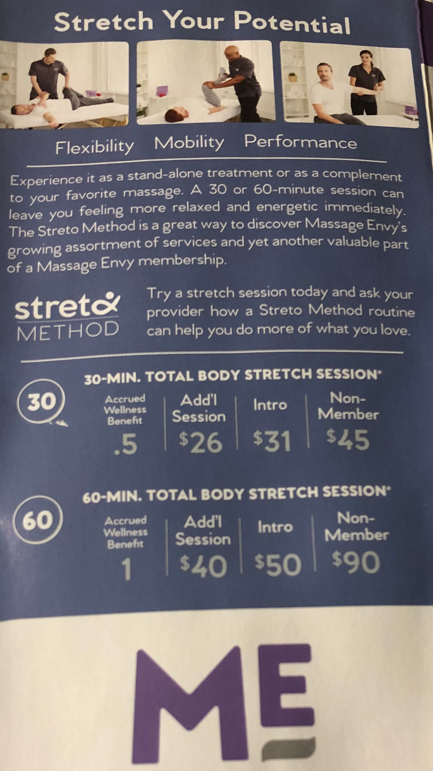 Stretch options available
