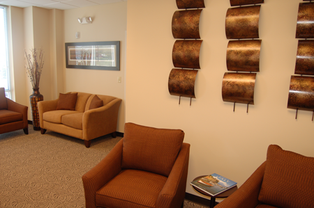 Our relaxing waiting room