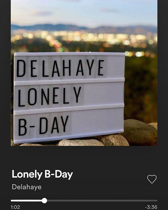 "2nd Single ""Lonely B-Day"" - Delahaye is OUT NOW in all digital platforms! It's the second of many singles that i'm putting out over the next months until my new EP comes out. The album is inspired by the golden era of the music in the late 70's/early 80's, West coast and Science fiction. Take a listen, share and spread the word! It wouldn't be the same without this crew:  Keith Carlock: Drums Adrian Schinoff: Rhodes and Wurlitzer Rodrigo Crespo: Guitars. Martin Delahaye: Bass, Guitars and Synths.  Written and Produced by Martin Delahaye.  Drums and Bass recorded at Velvet Cinema Studios in Nashville, TN by Michael Whittaker.  Wurlitzer & Rhodes recorded at Adrian Schinoff Studios in Los Angeles, CA Guitars recorded at Gold Top Studios in Los Angeles, CA. Synths, guitars and more Recorded at Parrales Studios NY/LA.  Mixed by Eduardo Bergallo at Revolver..Bs As, Argentina. Mastered by Eduardo Bergallo at Puro Mastering. Bs As. Argentina. #NowPlaying  #un-pretentiousvalley."