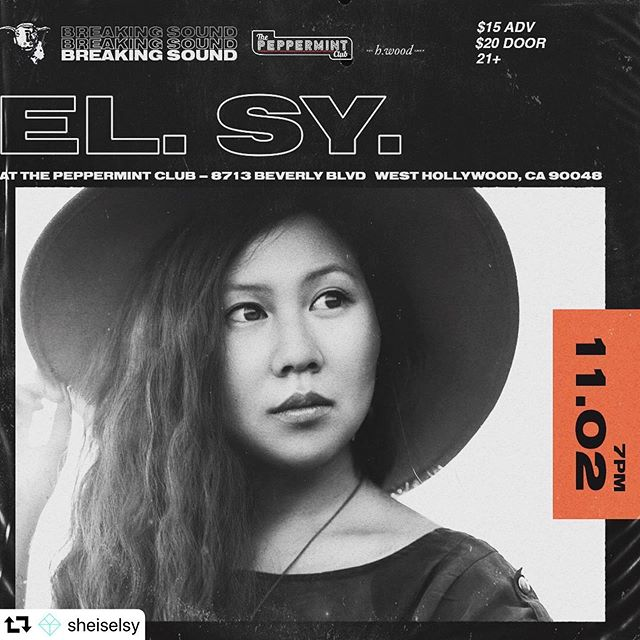 "Tonight! Playing with @sheiselsy and @ezedrum  at @thepeppermintclub in LA! #octamizer ON. #repost @sheiselsy ・・・ LA!! I'm playing this Sat, Nov 2 @thepeppermintclub 💃🏻 Tix in bio.  The line-up is also sick. @breakingsoundla ***If you grab a ticket early, I'll private link you my unreleased single ""Fast Life"" 🙏*** Fun fact: it's my birthday show - gonna be 🔥  #peppermintclub #newmusic #elsy #newartist #breakingsound #shadow"
