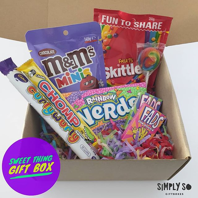 SWEET THING GIFT BOX The perfect gift box for that person who loves sweets and lollies! Tag your lolly loving peeps who would love one of these below 👇 Available online tonight!! www.simplyso.com.au/shop