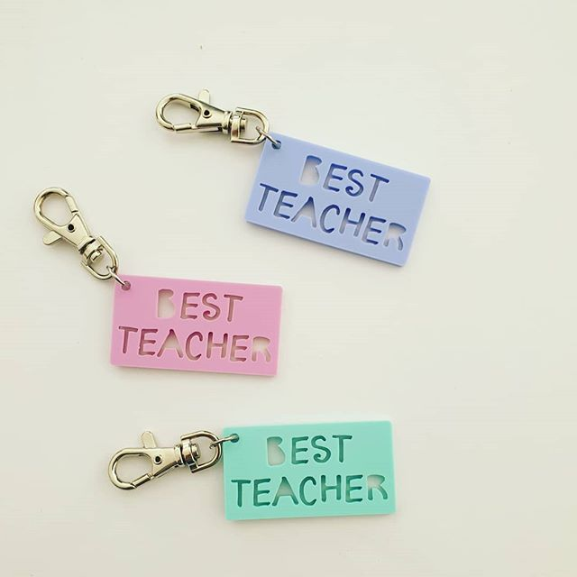 I'm loving these teacher keyrings by @littlebirdyfinds 😍😍 I'm thinking they will make a perfect addition to the Appreciation boxes for teacher gifts. Let me know what you guys think? Drop a ❤ below if you love?