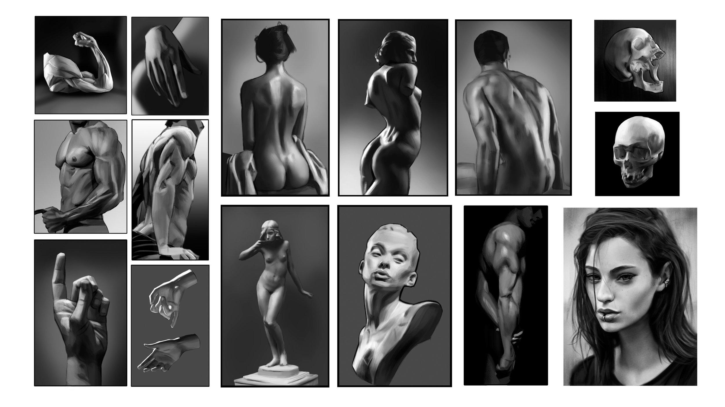 Figure studies, Digital, 2018.