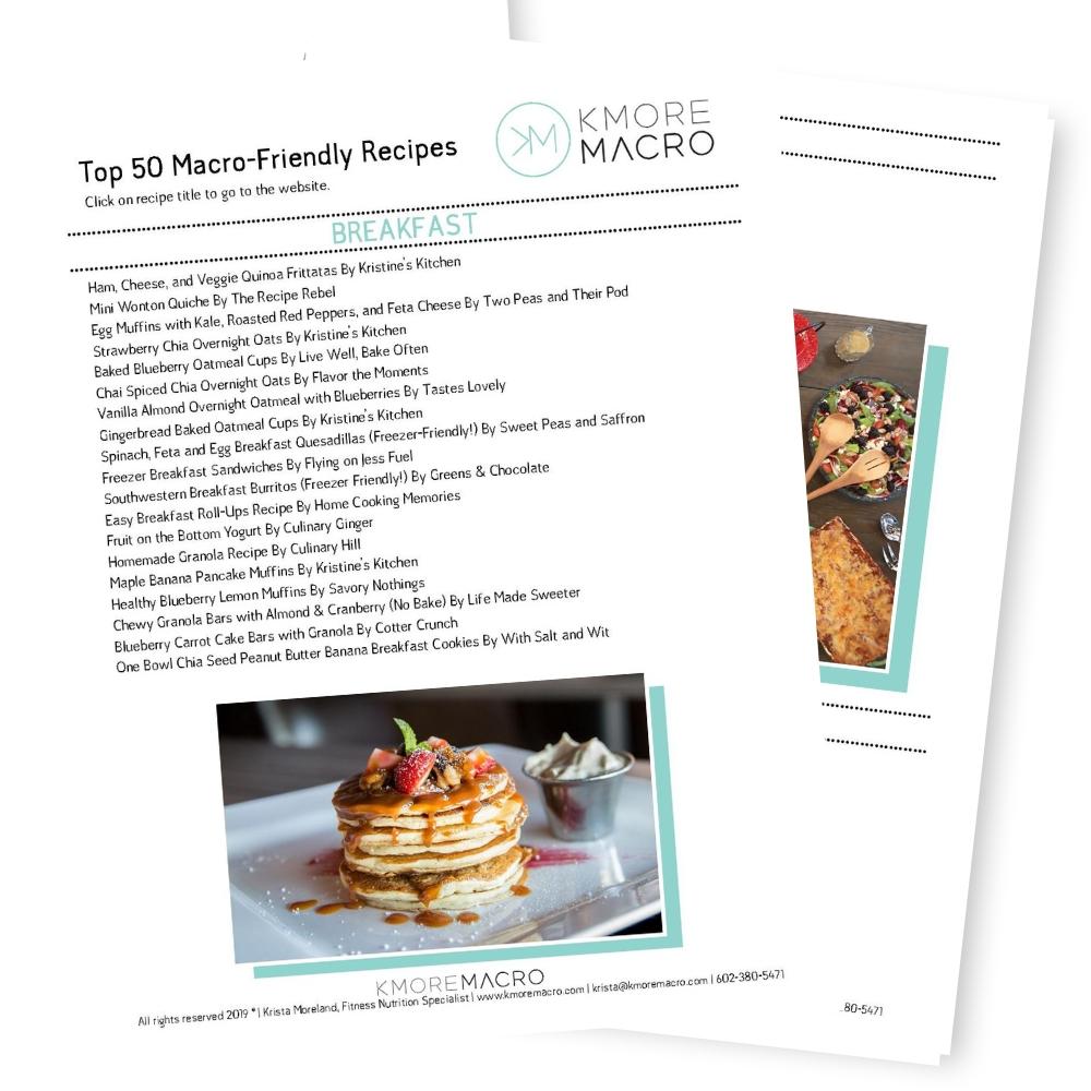 kmore macro macro coach for women top 50 macro-friendly recipes