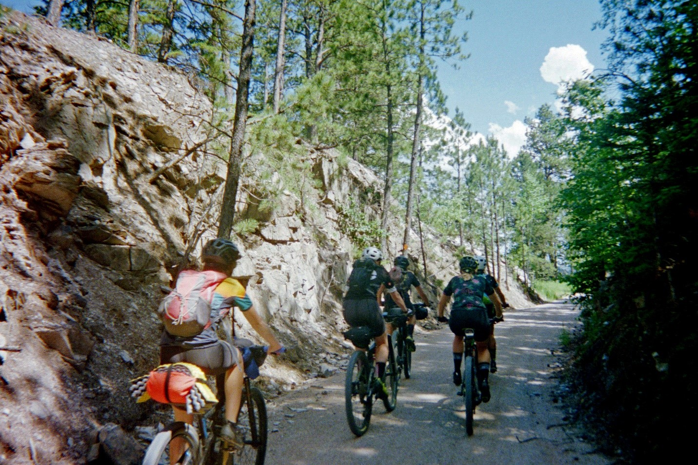 Cycling the Mickelson near Lead, South Dakota