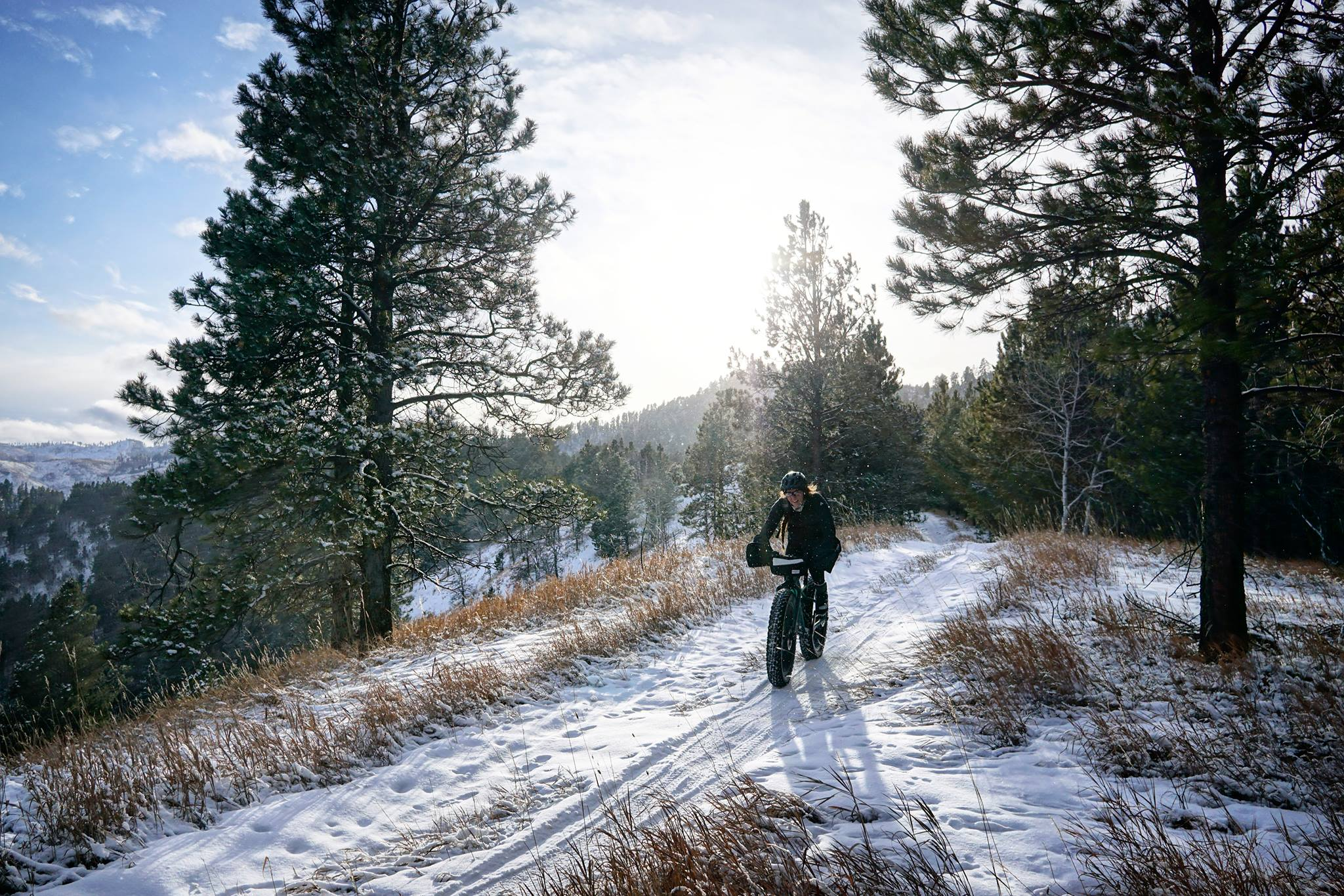 My first time riding the course of the Winter's Fat Classic race in Deadwood, South Dakota. This remains one of my all-time favorite rides on a Fatbike, and I almost didn't go due to weather: it was a 3 degree day in the Black Hills. (Photo by  Zach Stone , December 2017)