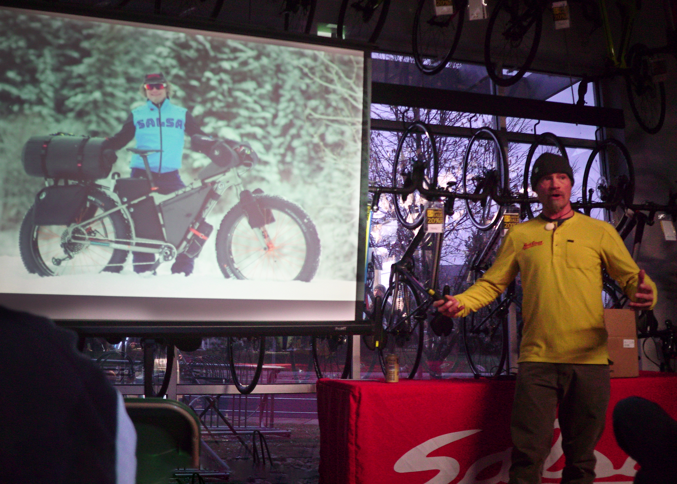 Jay Petervary talks about the major advances in bike technology that he has benefited from personally while racing the Iditarod Trail Invitational, the most recent of which being the Blackborow - a cargo bike with an extended rear triangle.