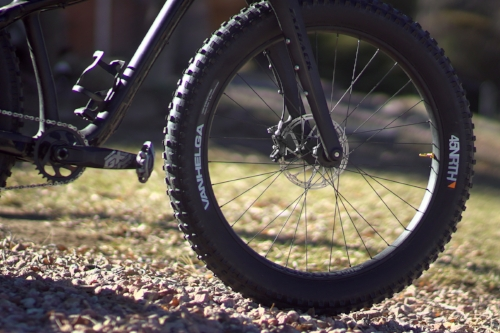 My fatbike with a gold 44 mm Good Guy valve stem