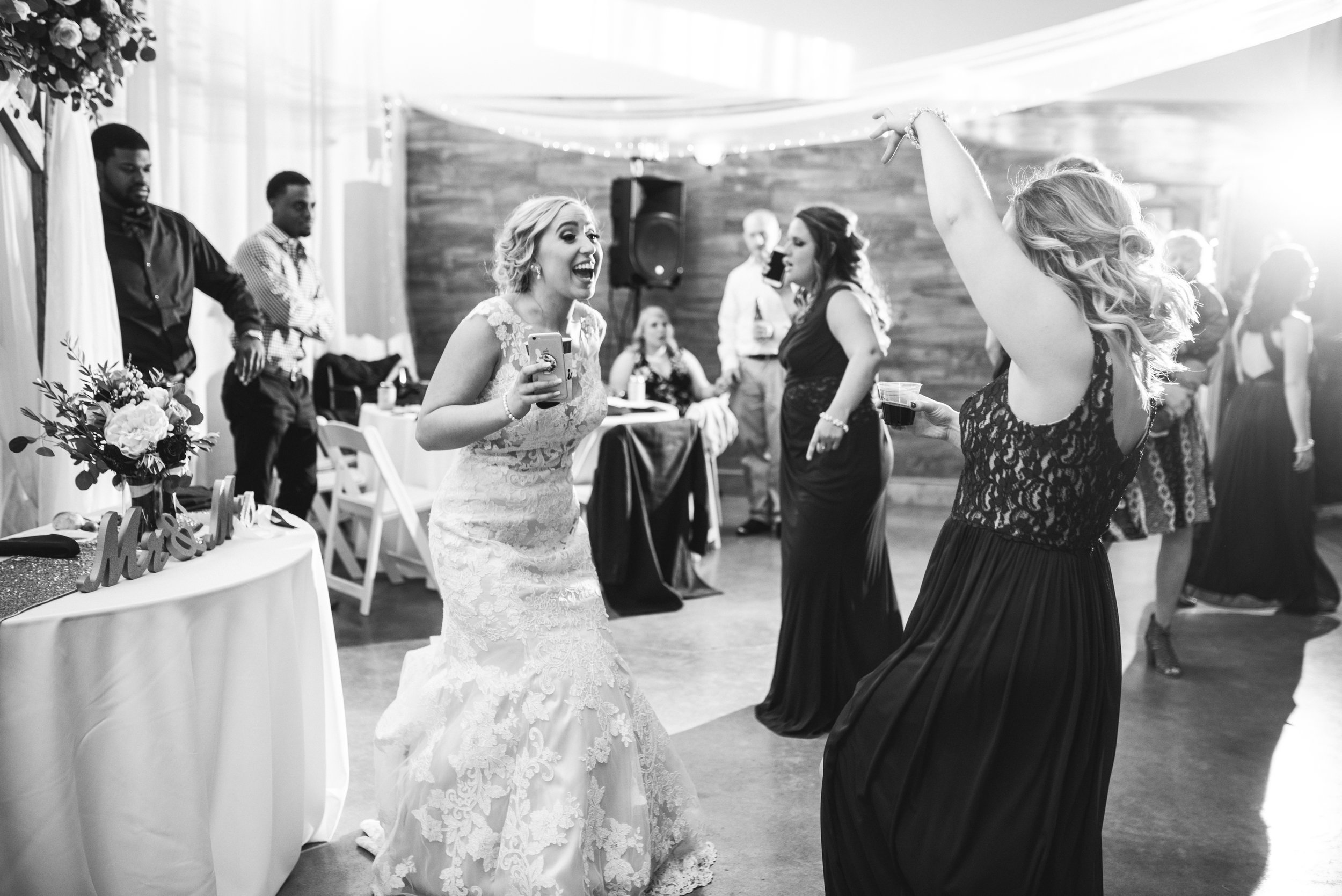 Bridal party dancing to our DJ services