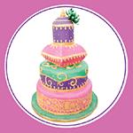 E and E Special Events Wedding Cakes Logo