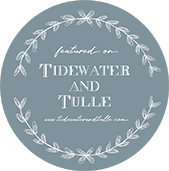 We have been featured on Tidewater and Tulle Site Badge
