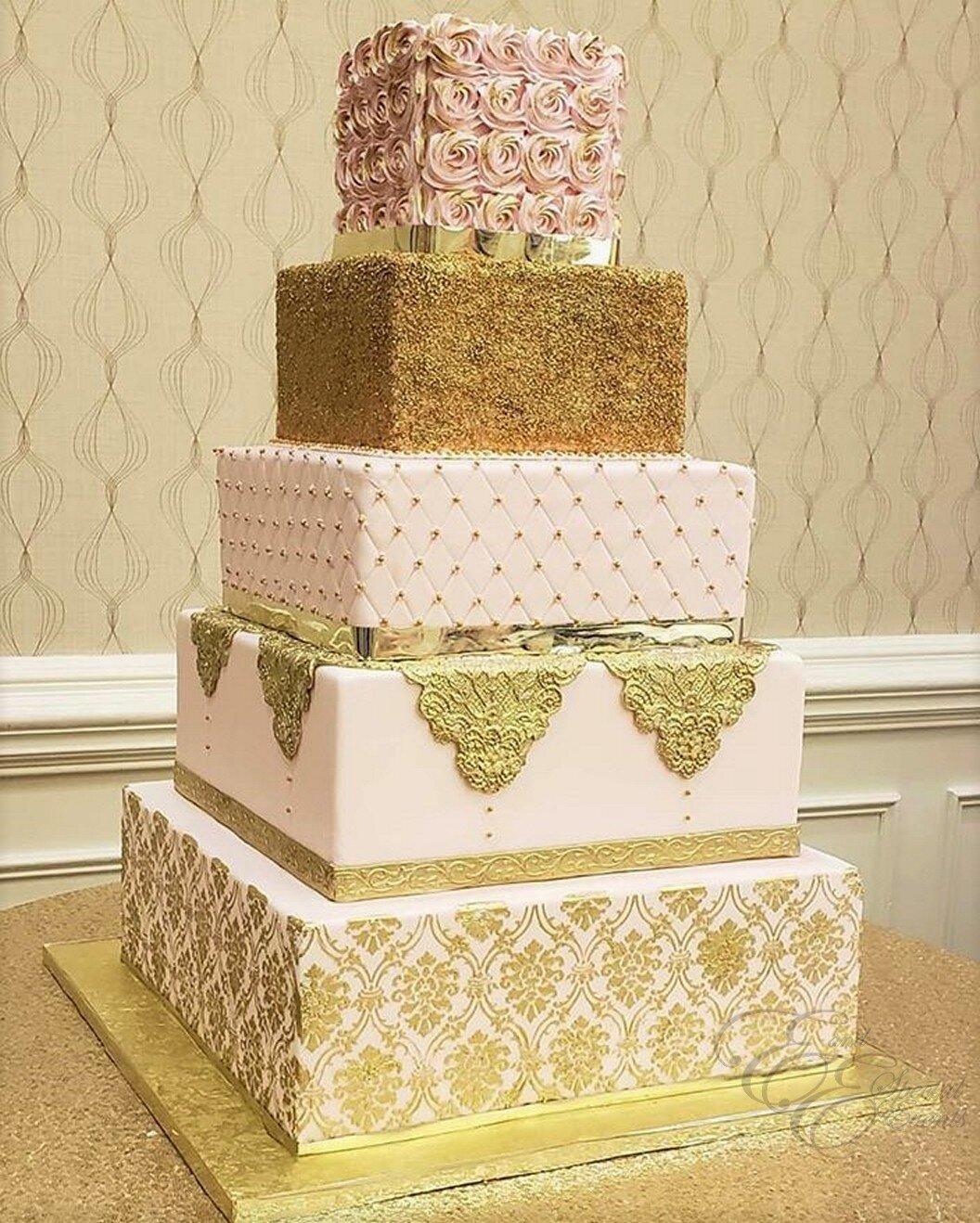 blush and gold square wedding cake.jpg