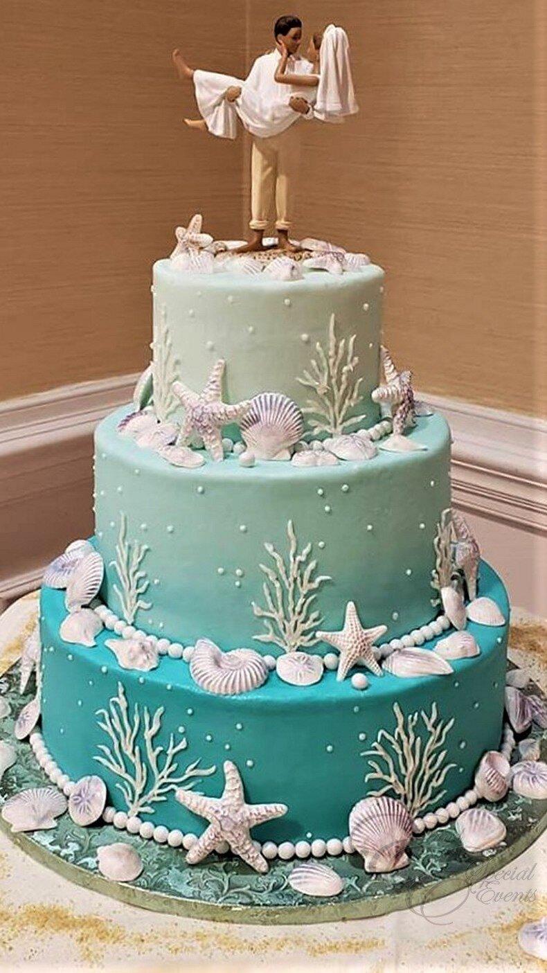 teal ombre wedding cake.jpg