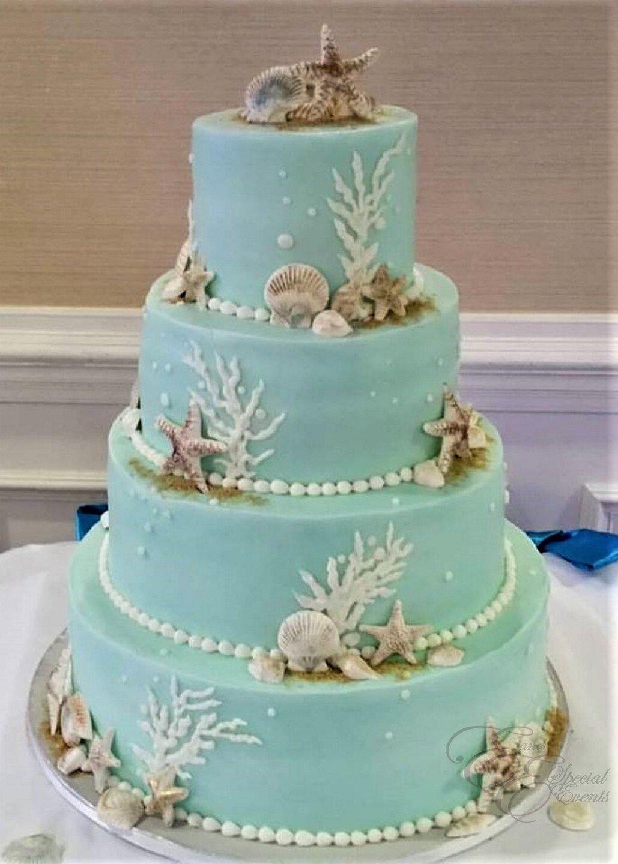 teal wedding beach cake.jpg