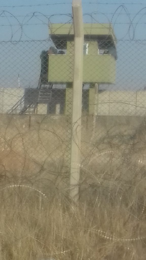 Border monitoring tower of Turkish soldiers, photo taken in Ceylanpınar by the author on 22 July 2018.