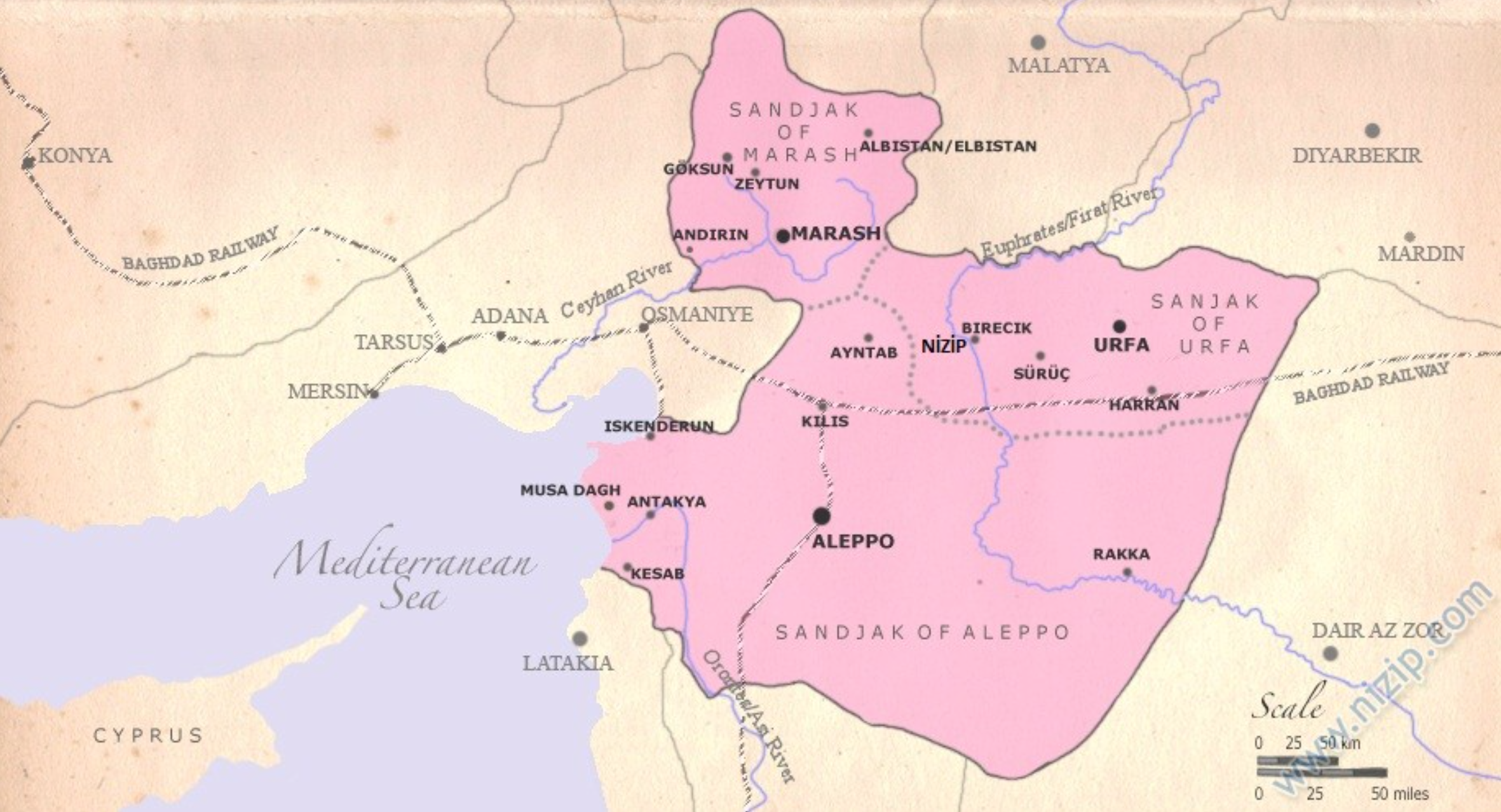 Aleppo Province of the Ottoman Empire in the early 20th Century