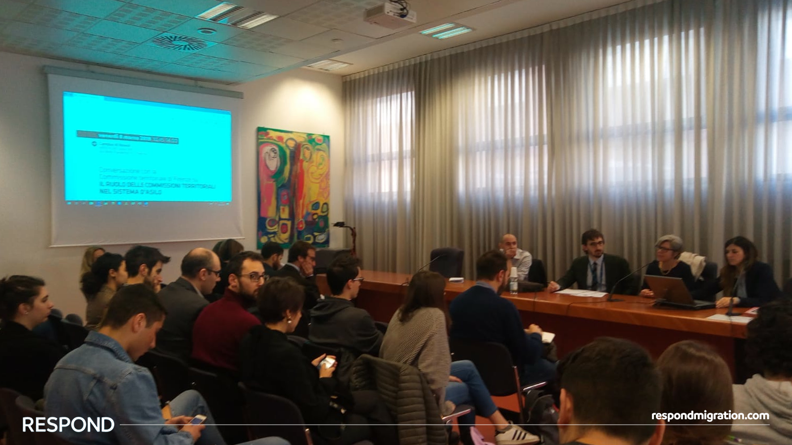 The Florence Territorial Commission  discussing the asylum seekers application process,  University of Florence , 8th March 2019