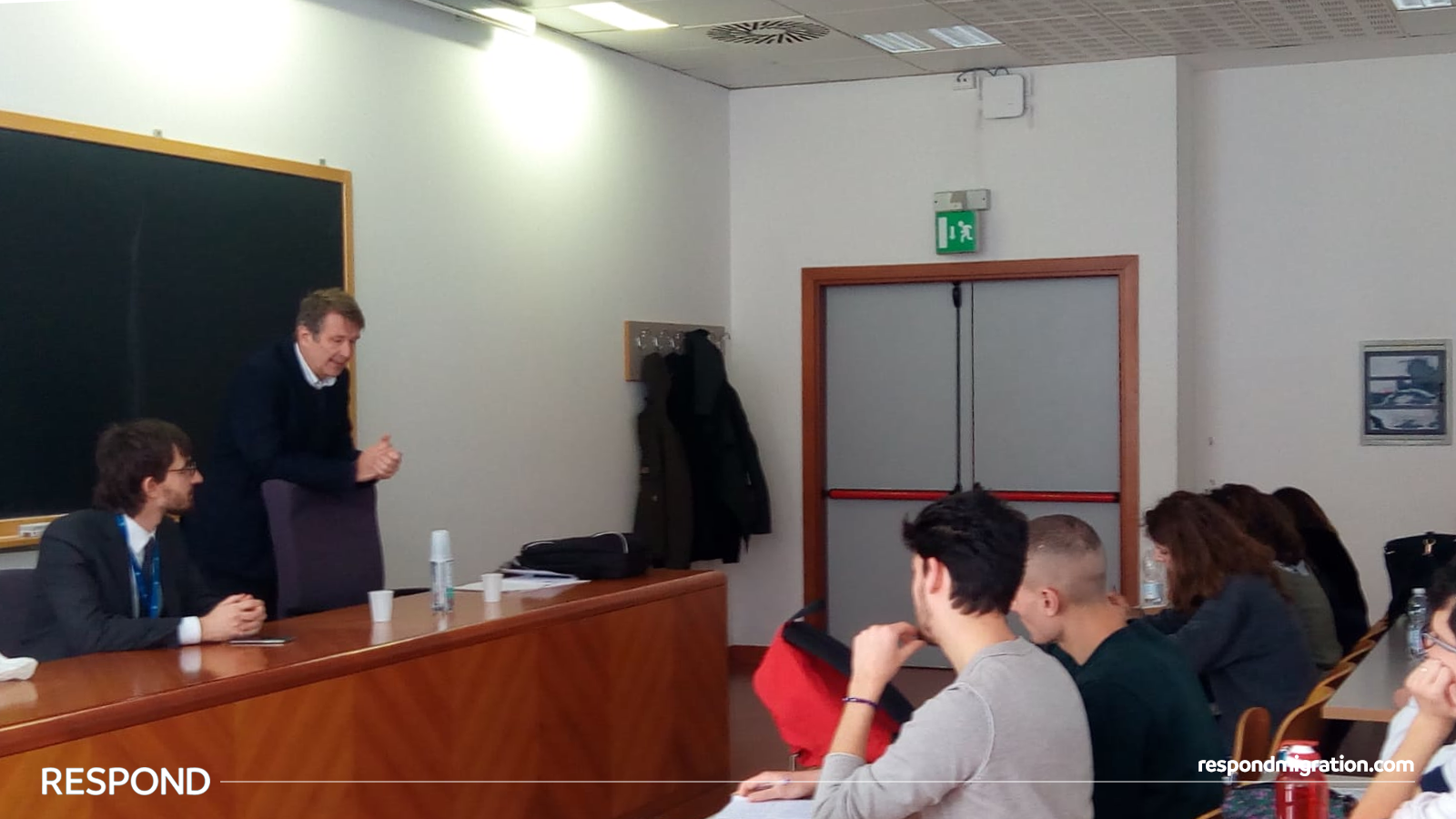 Professor Petrovic explaining the Italian incoherent approach to integration in his class at the  University of Florence  on the 22nd March 2019