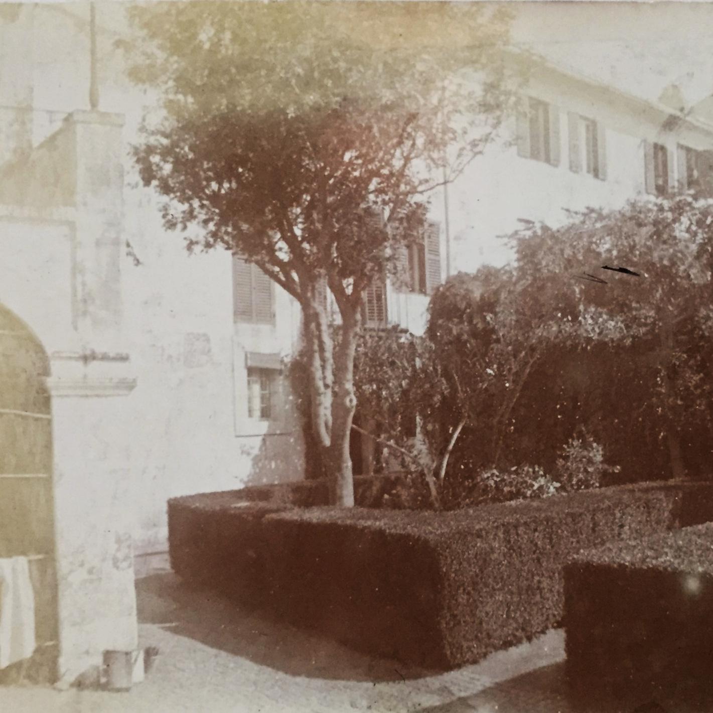 The terrace of the villa at Monte Porzio