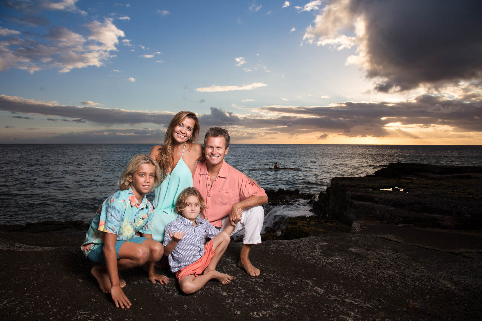 oahu family sunset portrait photography