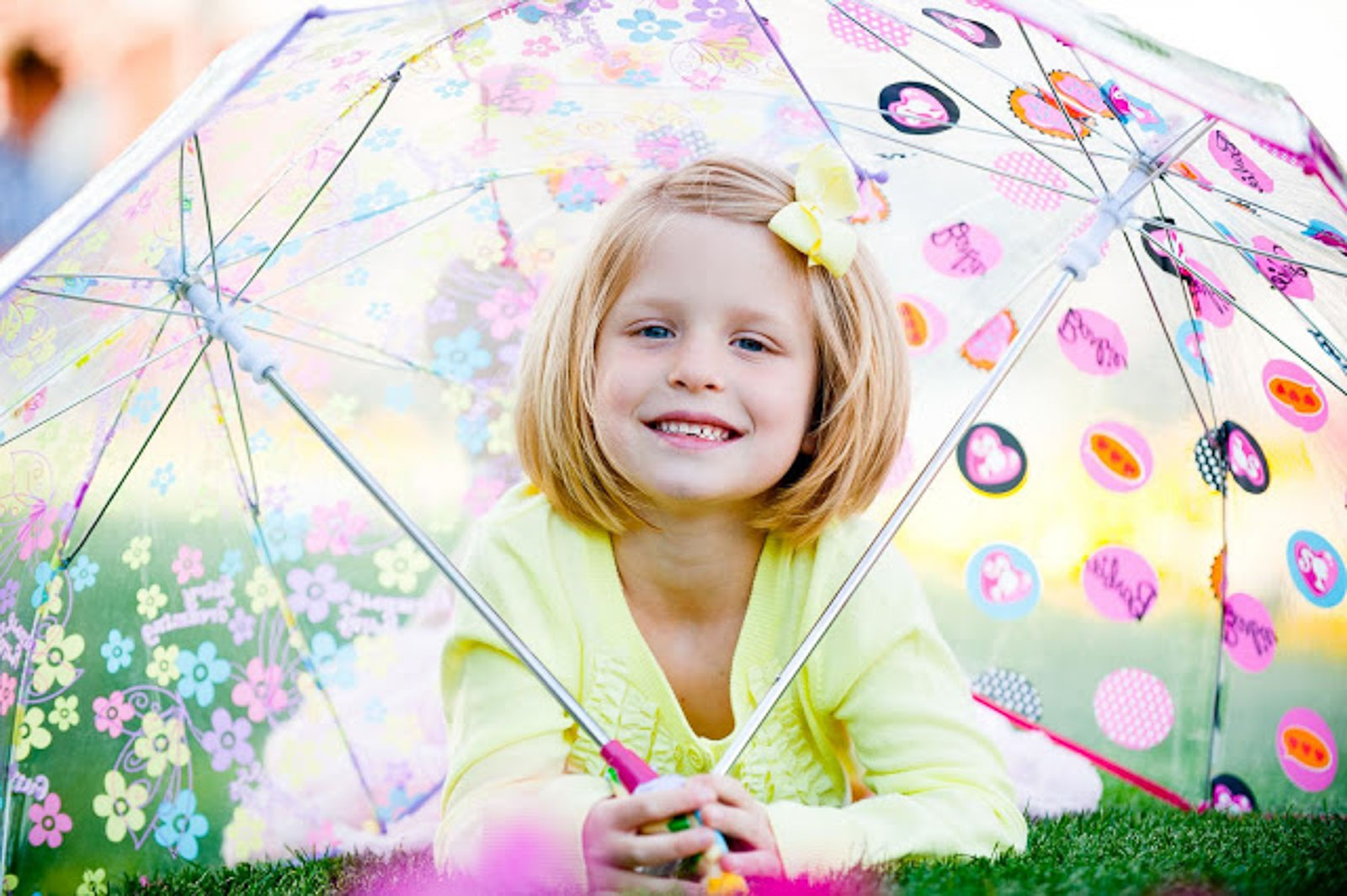 girl children under umbrella oahu beach portrait photo