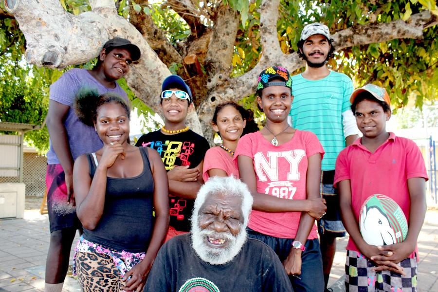Pormpuraaw Elder Gilbert Jack meets young people from Napranum and Yarrabah copy.jpg