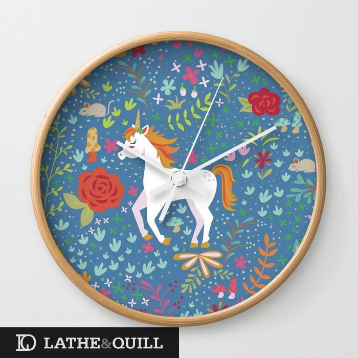 colorful-unicorn-pattern-wall-clocks.jpg