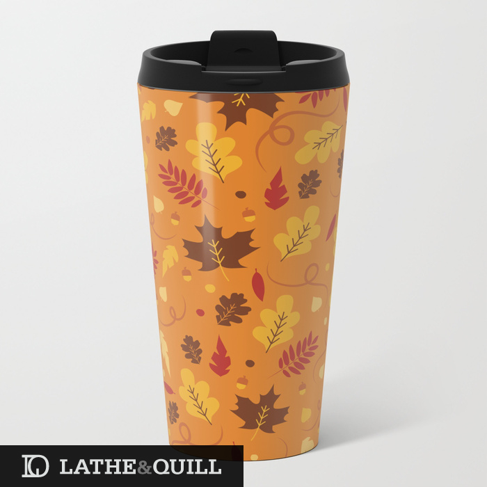 fall-pattern-on-orange-metal-travel-mugs.jpg