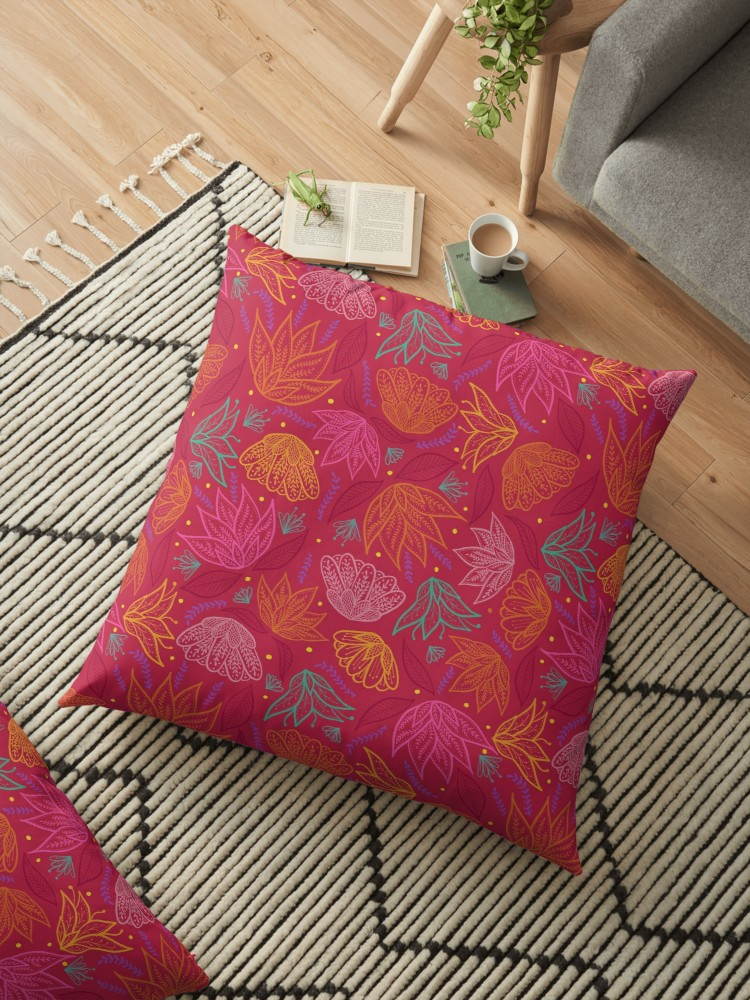 Read in boho style with this large floor pillow. So stylish!