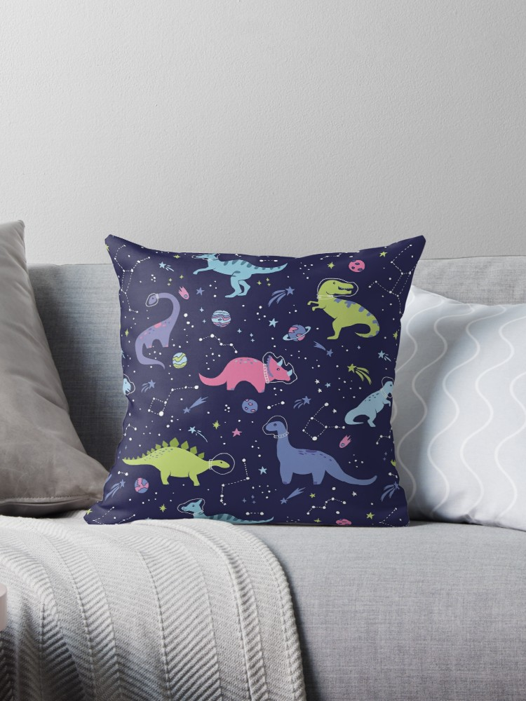 One of my most popular patterns of space dinosaurs on purple night sky with constellations