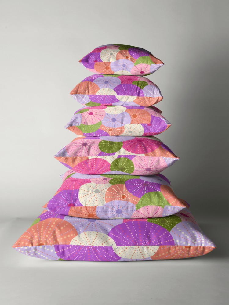 Fun brightly colored pillows available in 6 different sizes to fit your needs.