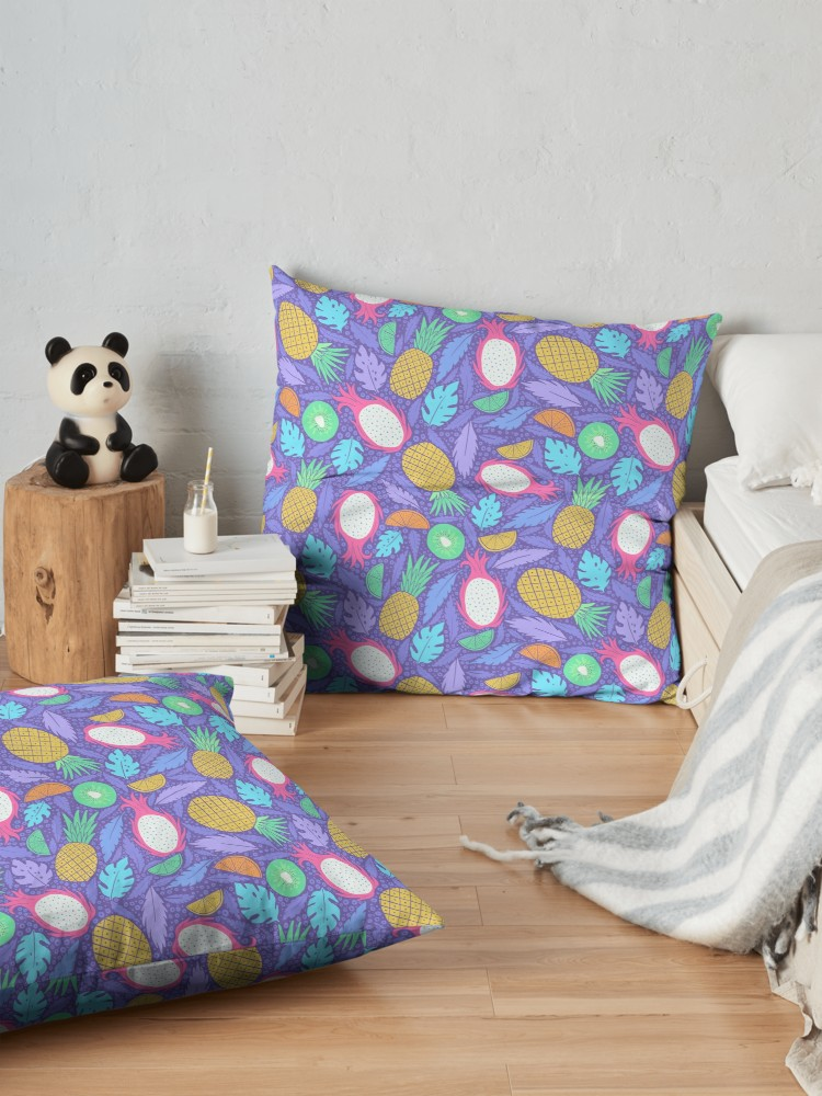 Bright hue purple and magenta summery tropical pattern for pillows, shirts, tech, and so much more