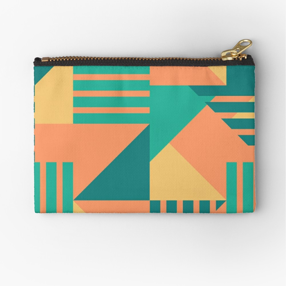 Zipper pouch that gives me big summer and tropical vibes. Celebrate summer with fun blast of colors.