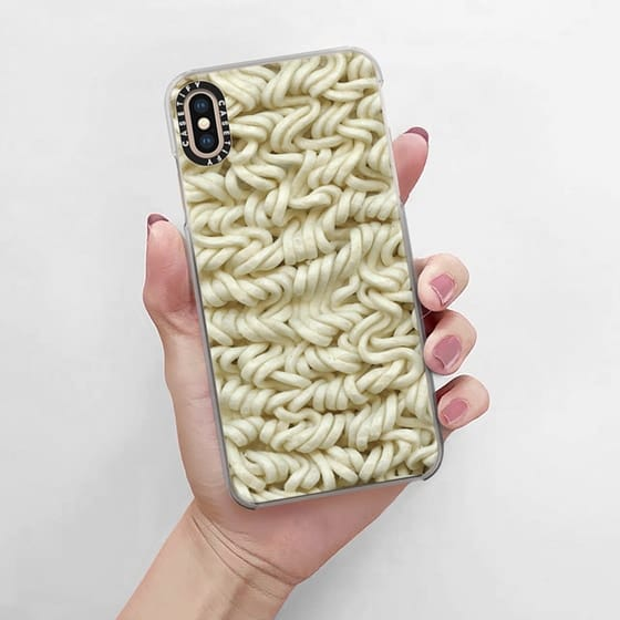 Ramen noodle phone case looks super cute for any noodle-crazy lover out there
