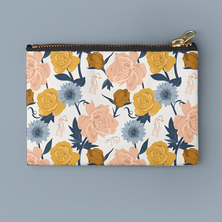 Blush and Gold Floral clutch bag perfect for a quick grab on the go.