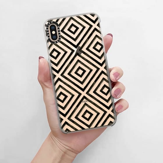 Clear phone case from Casetify perfect for neon sand or glitter to accent