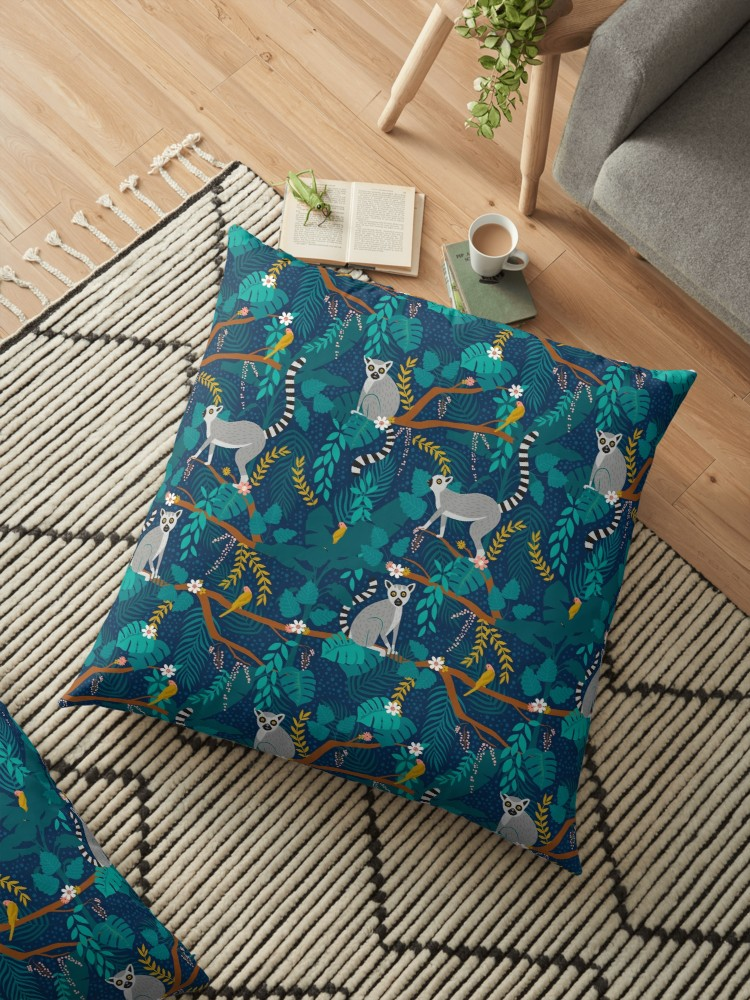 Teal blue with brilliant yellow accents gives sophisticated style with a whimsical twist