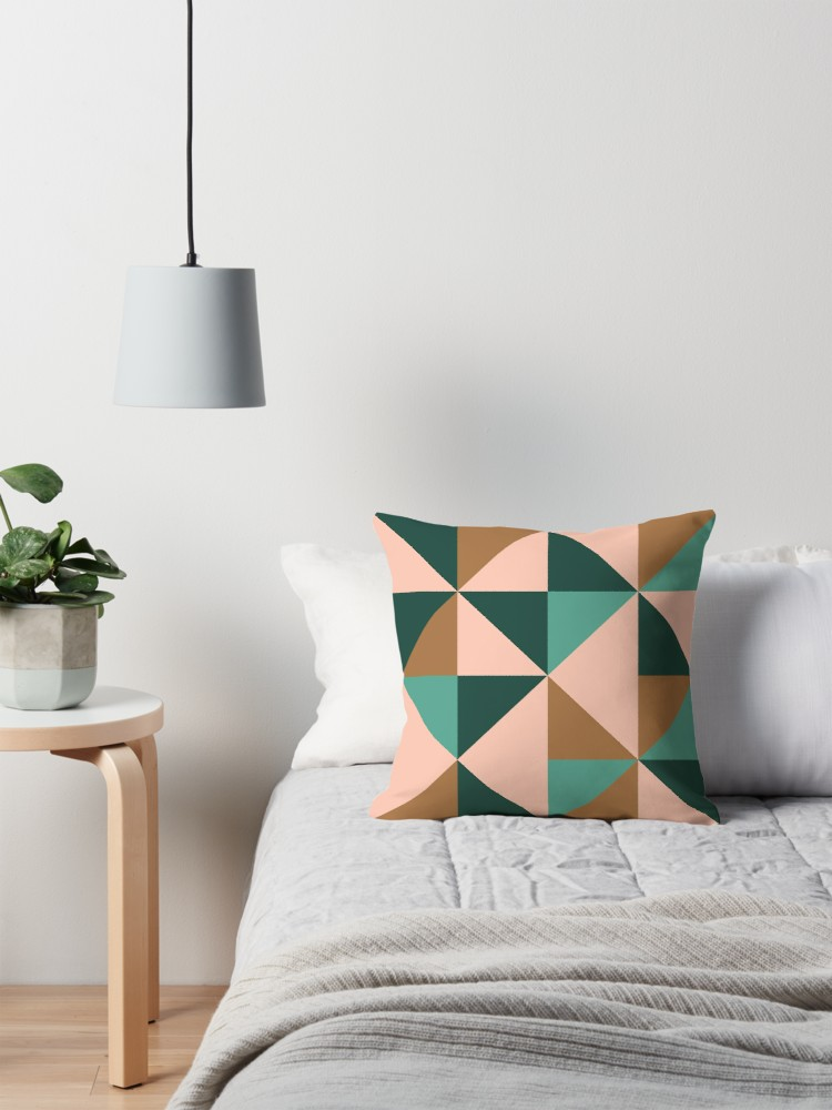 Cute bold color block style pillow case for throw pillow for the bedroom or living room.