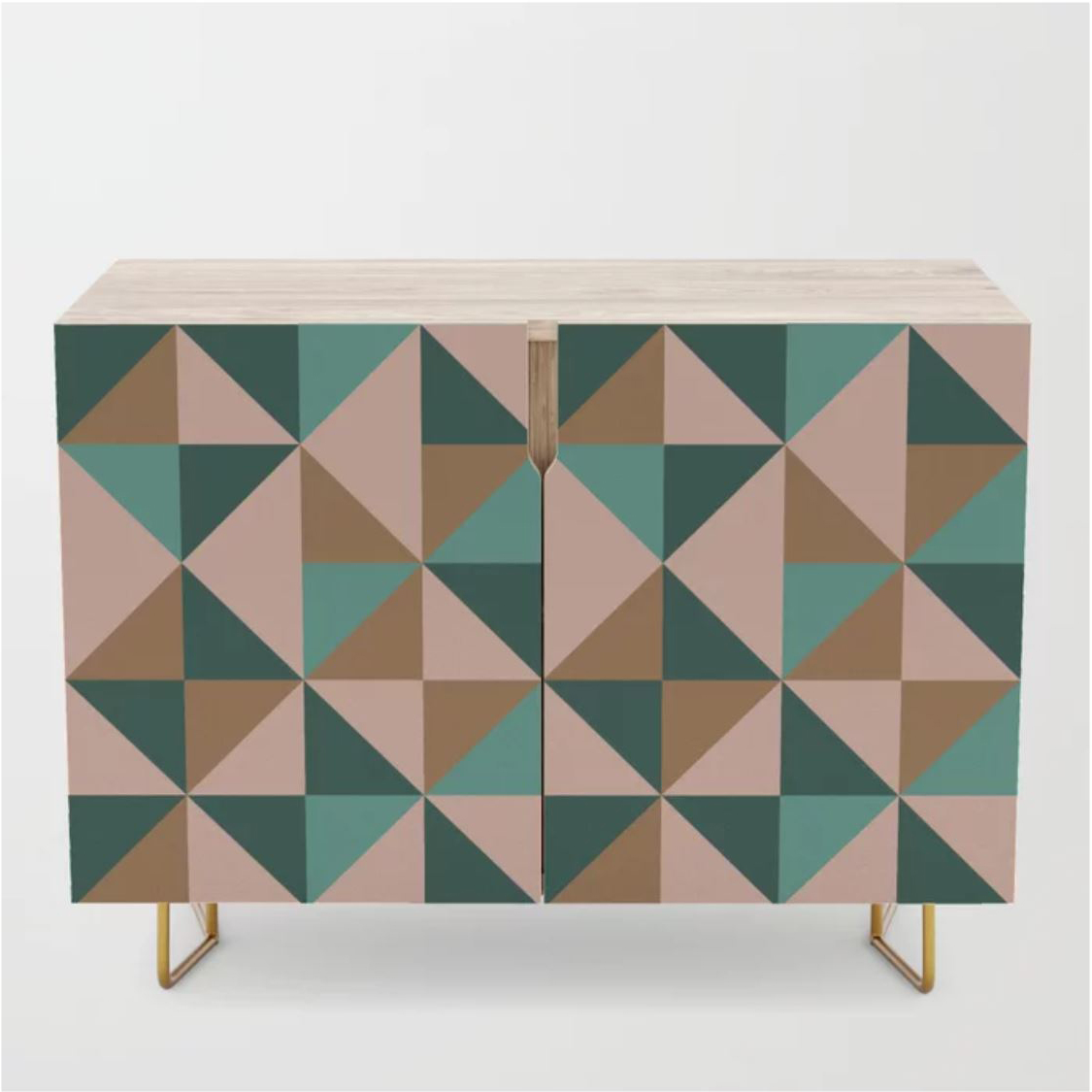 Blush pink and green teal credenza from society6