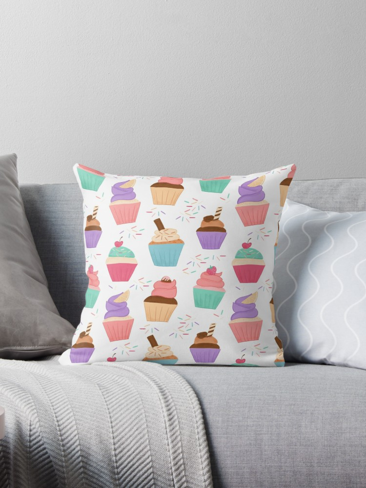 Cute sprinkle and cupcake pillowcase great for a little girl's bedroom