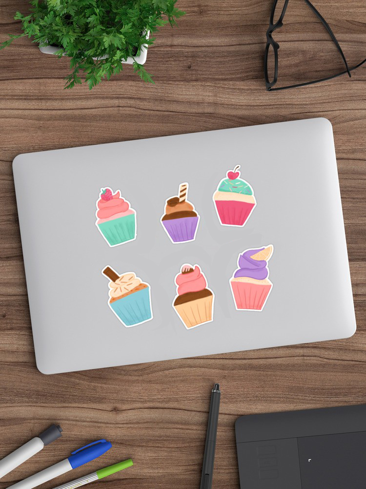 Is there anything more fun than cupcake stickers? they look great to accent your tech cases or a notebook