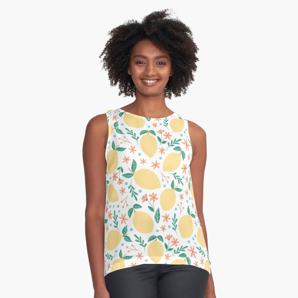 Lemon print loose tank, great to hide that mommy tummy and looks great