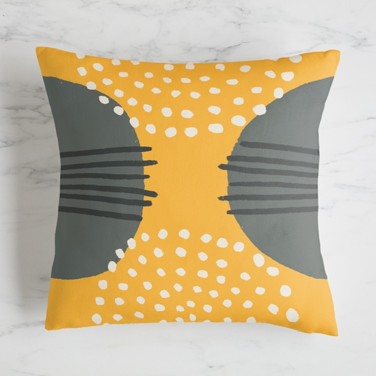 Wrap up some classic style by voting on this masculine or neutral pillow case in a retro color combo of yellow and grey