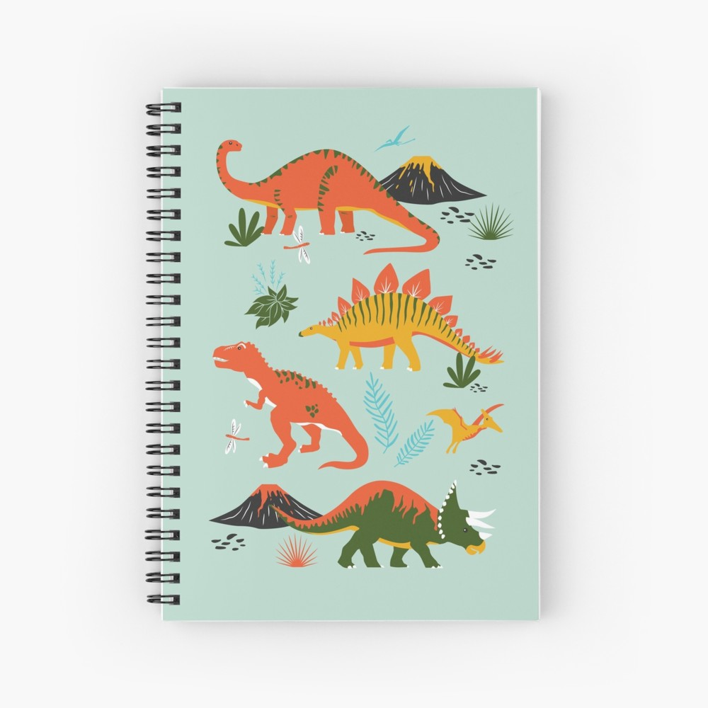 Cool new dinosaur notebooks just in time for back to school season great for a bullet journal, taking notes, or making sketches