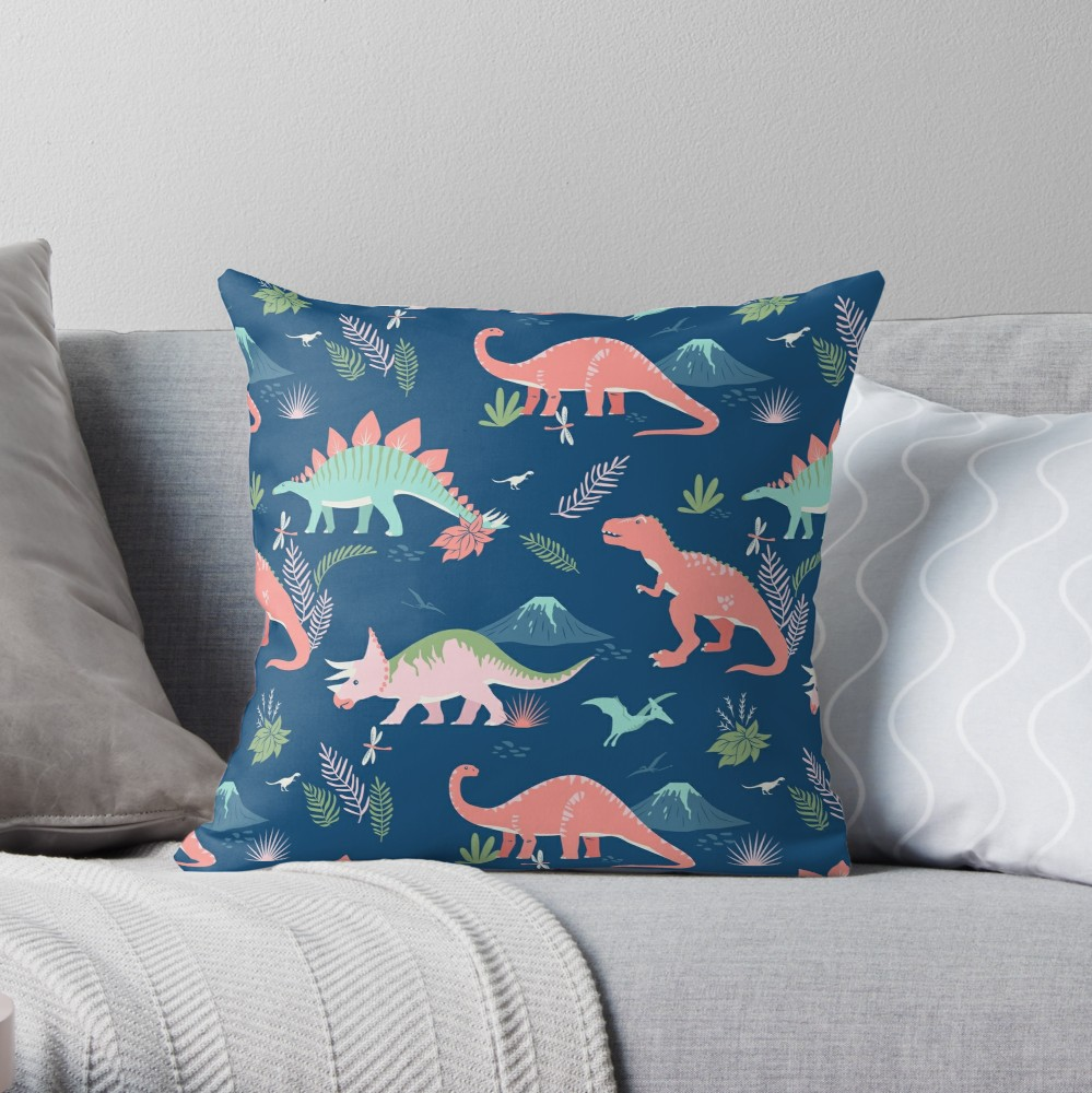 Blue and coral is one of my favorite color palettes and this throw pillow would look great in my daughter's nursery with her other coral decor
