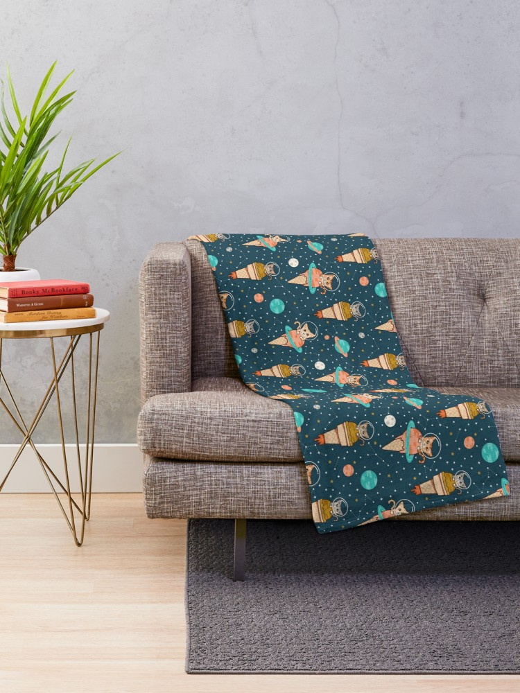 Kawaii style on a blanket makes a great addition to a movie night with the kids or for them to cuddle up to while reading