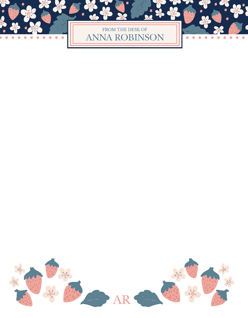 Write a personal memo or a note to your grandma on this personalized stationary paper
