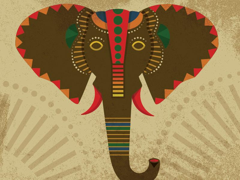 Illustration Mask of an elephant