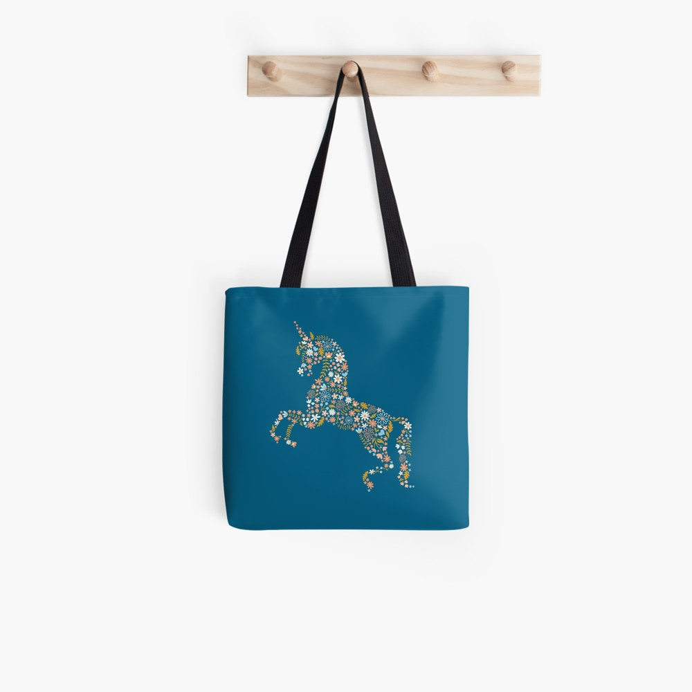 I make lots of trips to the library with my kids and these tote-bags make the perfect book bag with personality. Floral unicorn for my pony loving little lady.